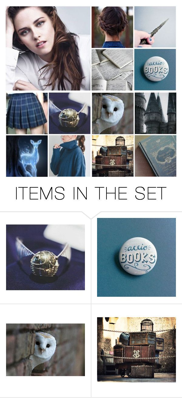 """Fem! Harry Potter (Ravenclaw)"" by demiwitch-of-mischief ❤ liked on Polyvore featuring art"