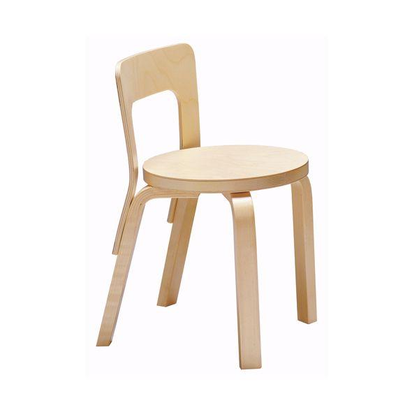 Sedia per bambini Aalto N65, betulla baby design