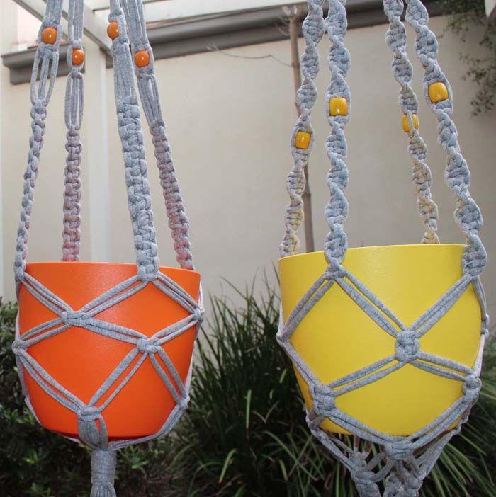 Macrame-Plant-Hangers - Zpagetti Yarn- Free Pattern - PDF Download