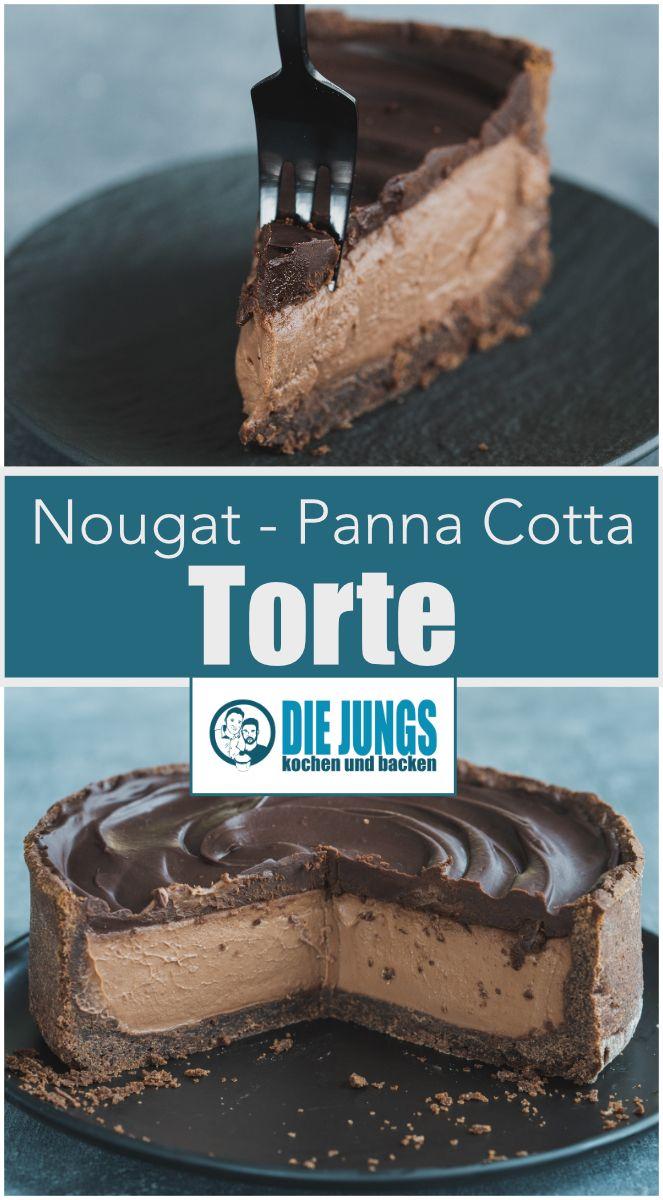 Rezept für einen zart schmelzenden Nougat-Panna-Cotta-Kuchen. Der Dessertklassiker …   – Die Jungs kochen und backen.de