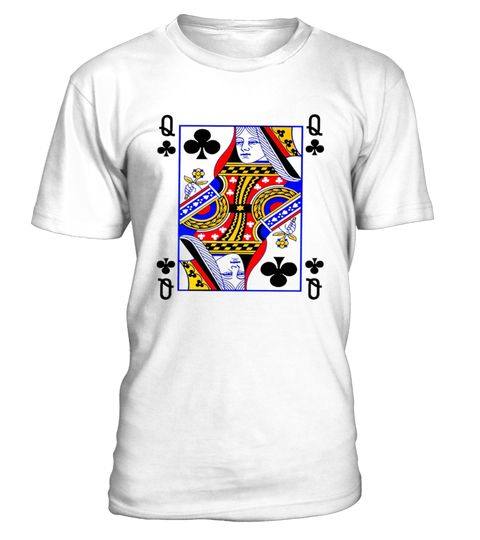 Queen Of Clubs Card Playing Card Poker Costume Card T shirt