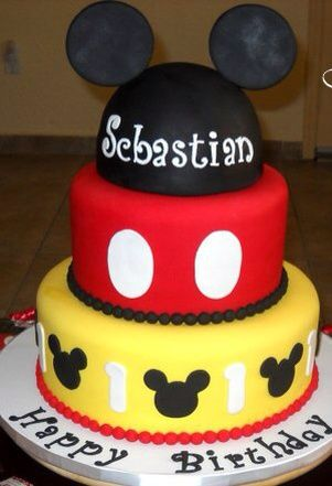 Mickey Mouse Cakes And Cupcakes | ... detail for -Close-up of Mickey Mouse Cake | Aiden's Bday Party