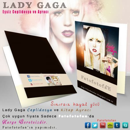 Lady Gaga CepliDosya ve Kitap ayracı