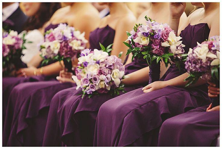 Purple Wedding Bouquet Edmonton Wedding Photographers
