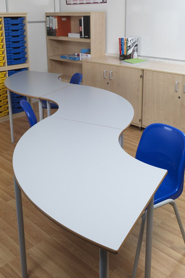 Modern Classroom Furniture Nz ~ Curved classroomtables a sturdy table with fully
