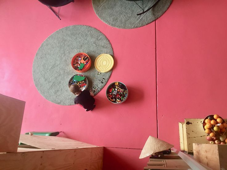 Bold bright pink floor painted with epoxy - Sawhorse Construction Design and Build, Melbourne Australia 0425 761 131