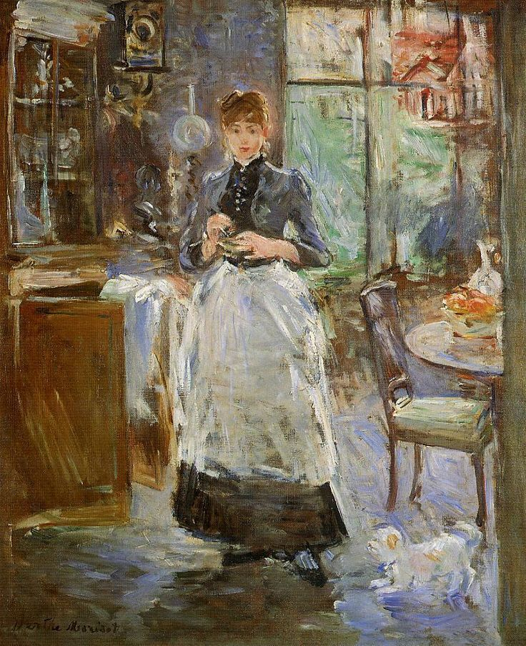 Berthe Morisot:In the Dining Room Berthe Morisot was a painter and a member of the circle of painters in Paris who became known as the Impressionists. Wikipedia Born: January 14, 1841, Bourges Died: March 2, 1895, Paris