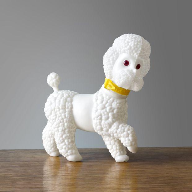 Biała wersja PRL-wskiego pudla. #vintage #vintagefinds #vintageshop #forsale #design #midcentury #midcenturymodern #you #poodle #dog #prl