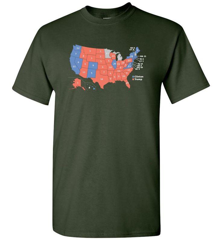 2016 Presidential Election Map Shirt - Short Sleeve T-Shirt
