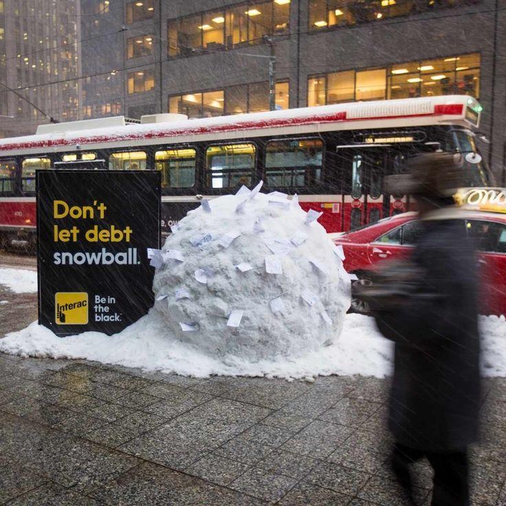 «Não permita que suas dívidas se transformem numa bola de neve»