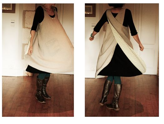 reversible pinafore apron design                                                                                                                                                      More