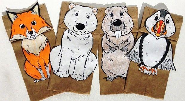 Papiertüten sind die perfekte Basis für Puppen! Kinder können einen Fuchs, einen Eisbären, …   – arts and crafts co-op