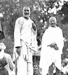 Abdul Ghaffar Khan & Mahatma Gandhi.  #satyagraha #gandhism