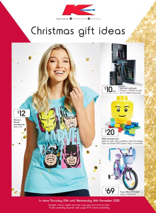 Kmart - Christmas Gift Ideas - Offer valid Thu 10 Dec - Wed 16 Dec 2015