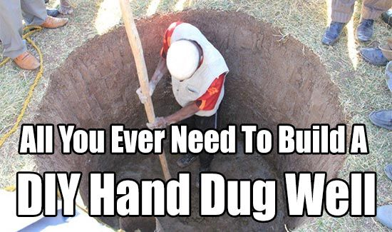 All You Ever Need To Build A DIY Hand Dug Well, water, how to dig a well, drill a well, hand dug well info, how to get water, survival, shtf, free pdf,