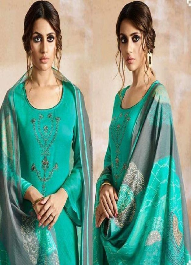 22cc8a8a93 Omtex Presents Shaira Cotton Satin Digital Print With Work Suits 602 ...