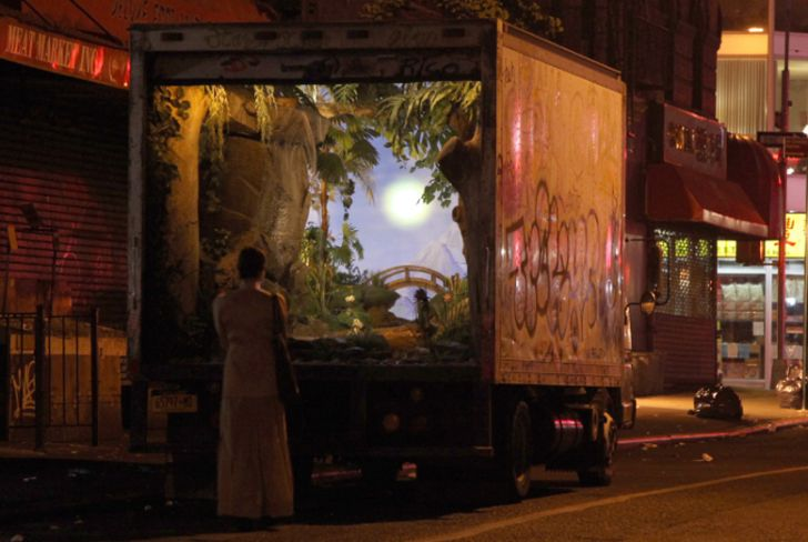 Banksy Transforms an Old Delivery Truck