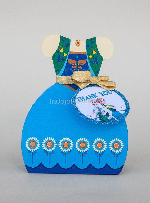 ANNA Frozen Fever Gift Box Favor Box Printable by IraJoJoBowtique