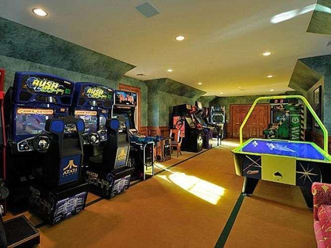 Sala de jogos luxuosa