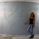"""""""Карта мира"""" - рельефное панно на стене"""