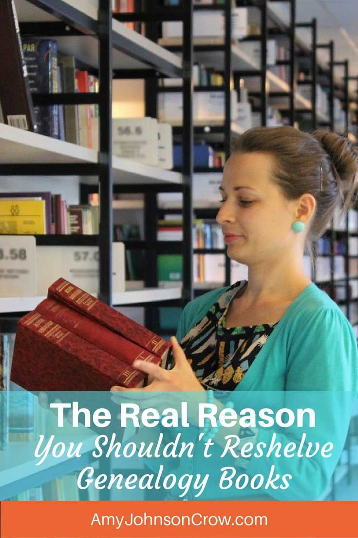 Many genealogy libraries tell you not to reshelve the books that you use. The reason isn't that they think you'll get it wrong. via @amyjohnsoncrow