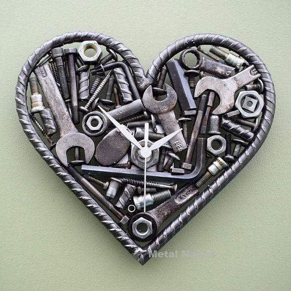 heart shaped clock nuts