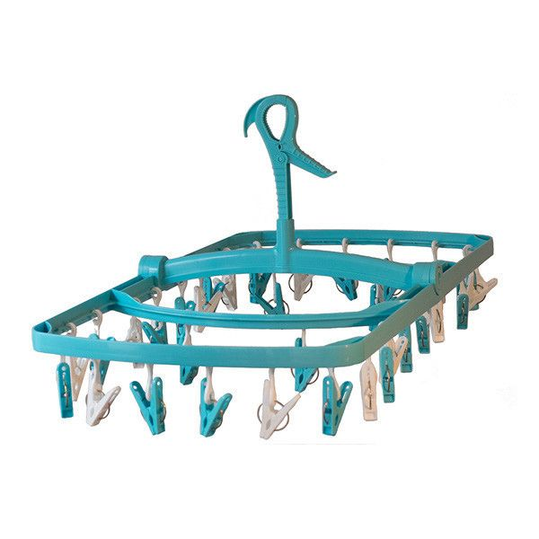 a. Laundry Hanging Clothes Dryer in Light Blue #camping #clothes #dryer #hanging #laundry #laundry-clothes-hanging-dryer
