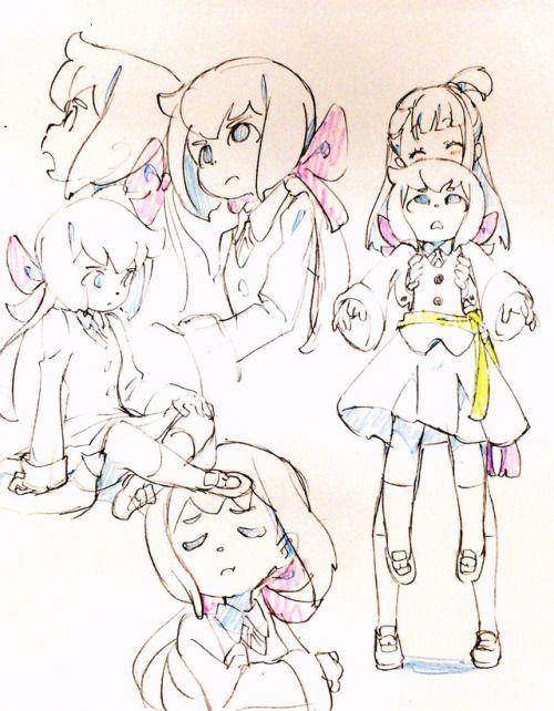 Akko and Constanze --Little Witch Academia--
