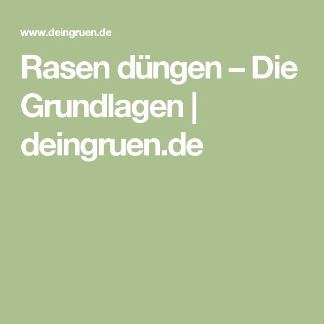 Rasen düngen – Die Grundlagen | deingruen.de