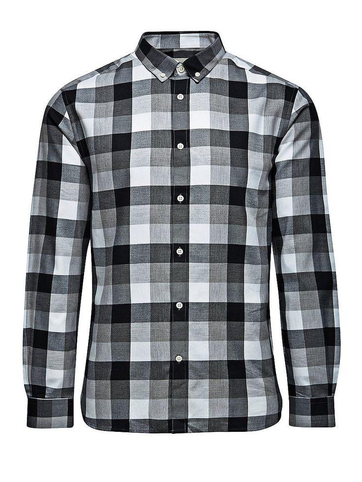 PREMIUM by JACK & JONES - Langärmeliges Hemd von PREMIUM - Slim-fit - Button-Down-Kragen - Twill-Qualität 100% Baumwolle...