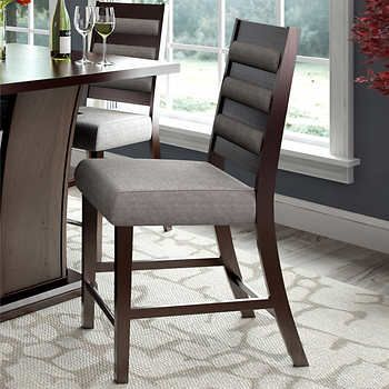 Cecilie Counter Height Grey Dining Chair 2-pack
