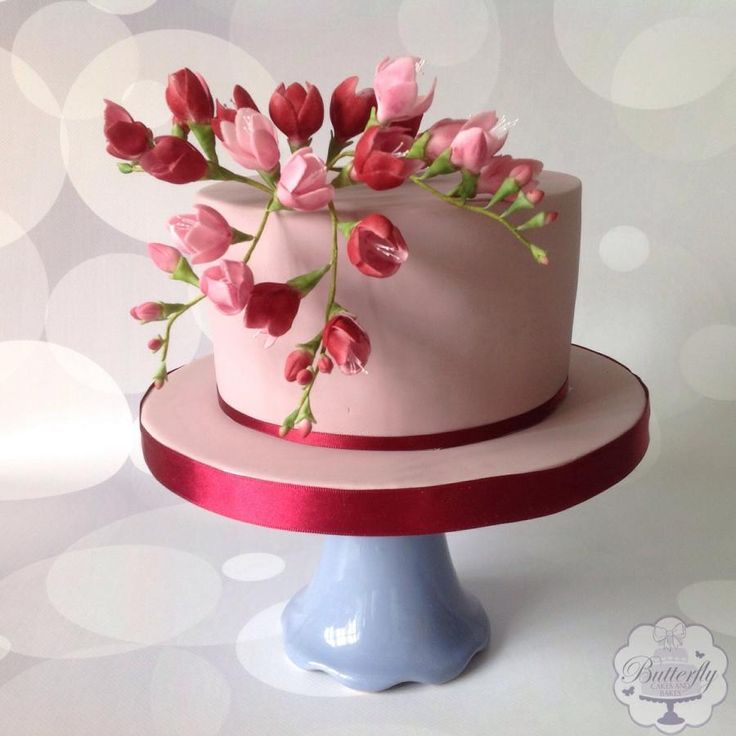 Birthday cake by Butterfly Cakes and Bakes
