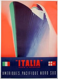 $10 Italy Ship Poster