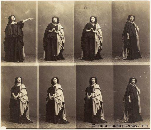 """André-Adolphe-Eugène Disdéri Adélaïde Ristori, dans """"Médée"""", tragédie de Legouvé en 1860 épreuve sur papier albuminé H. 0.2 ; L. 0.23 musée ..."""