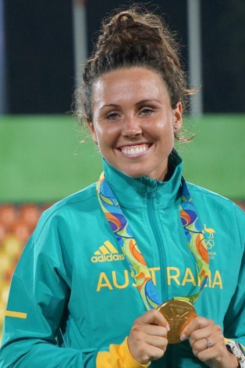 Rio 2016 women`s modern pentathlon gold medalist Chloe Esposito of Australia (ATR)