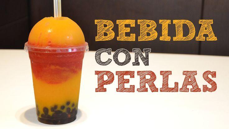 BEBIDAS CON PERLAS de tapioca   Bubba Tea   Boba drink   Perlas de gelatina   Bebidas para fiestas