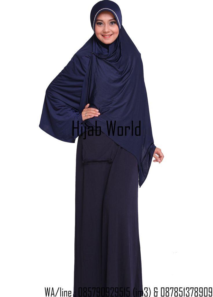 jilbab syar'i spandek permata biru sms/wa 0821.4284.5152
