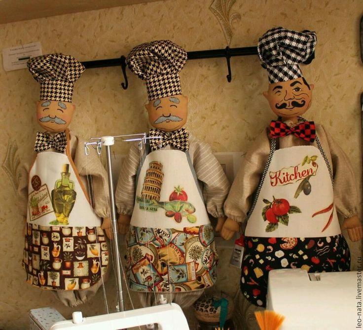 """Купить Пакетница """"Сеньор Патрицио, итальянский кулинар"""" - кухня, уютная кухня, подарок другу"""