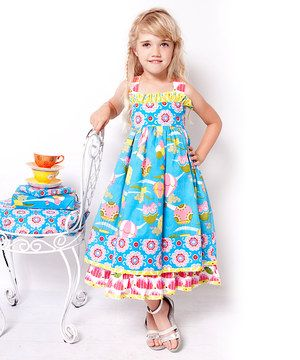 Another great find on #zulily! Blue & Yellow Balloons Dress - Infant, Toddler & Girls by Jelly the Pug #zulilyfinds