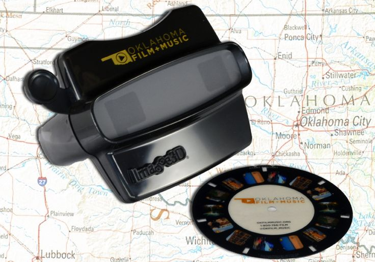 The Oklahoma Film + Music Office has a unique way of attracting filmmakers to Oklahoma... Branded ViewMasters!