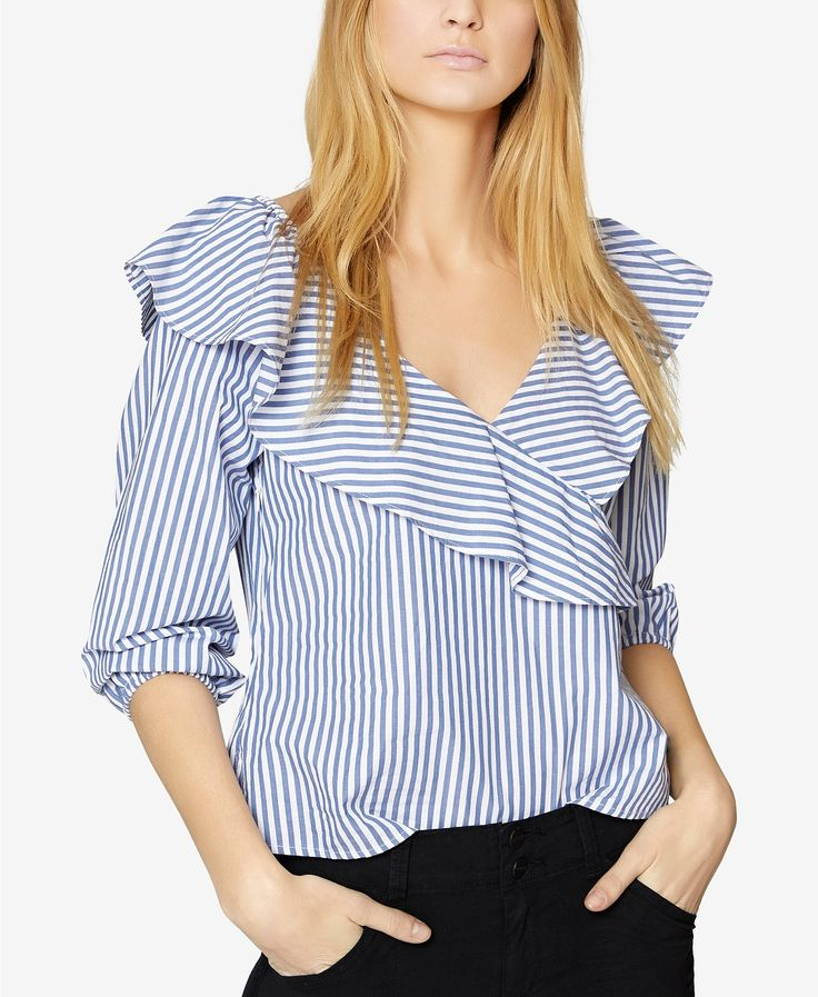 Sanctuary Secret Garden Striped Ruffled Top | macys.com