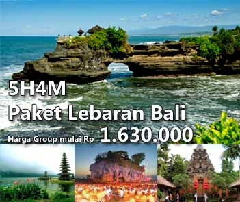 Bali Lebaran Holiday Package. Valid on 16-20 August only. 5 Days 4 Nights. Group price starting from Rp 1.630.000