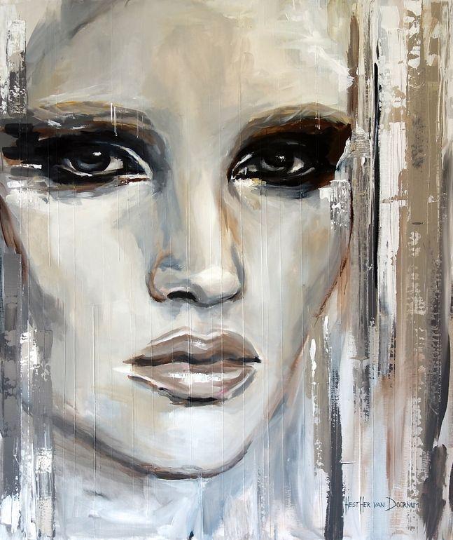 """Saatchi en ligne Artiste: Hesther Van Doornum; Acrylique 2013 peinture """"captif"""""""