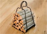 Firewood holder for carrying firewood in and out of the house