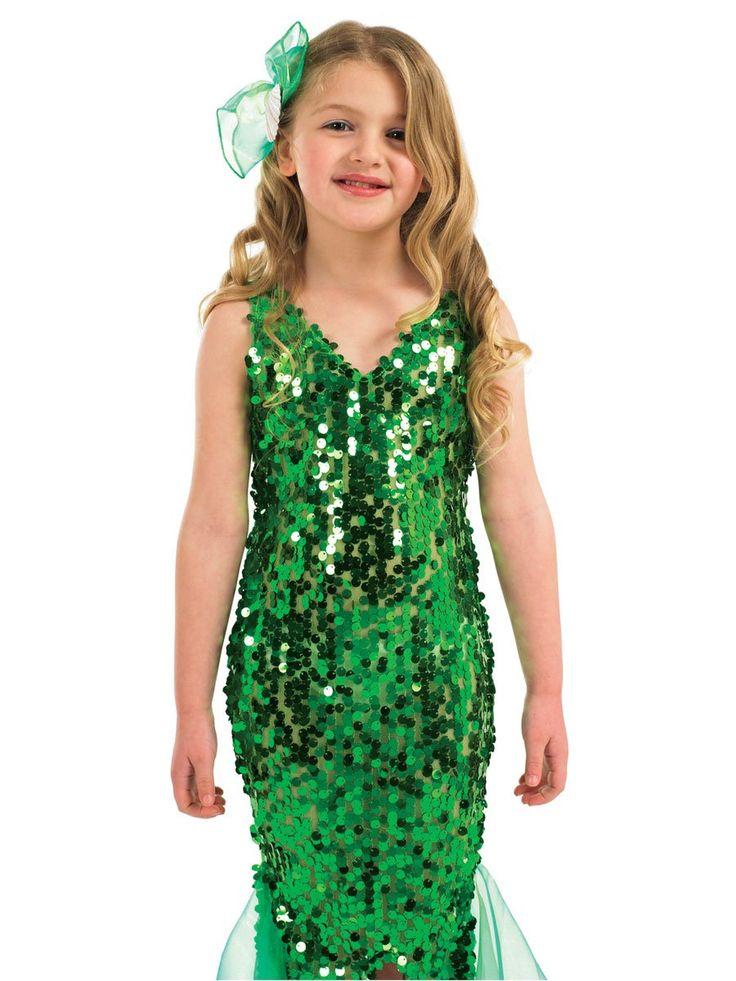 fish sequin costume   Home / Kids Costumes / Green Mermaid Costume - Kids