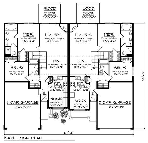 530 best multi family images on pinterest house floor for Multi family house plans apartment