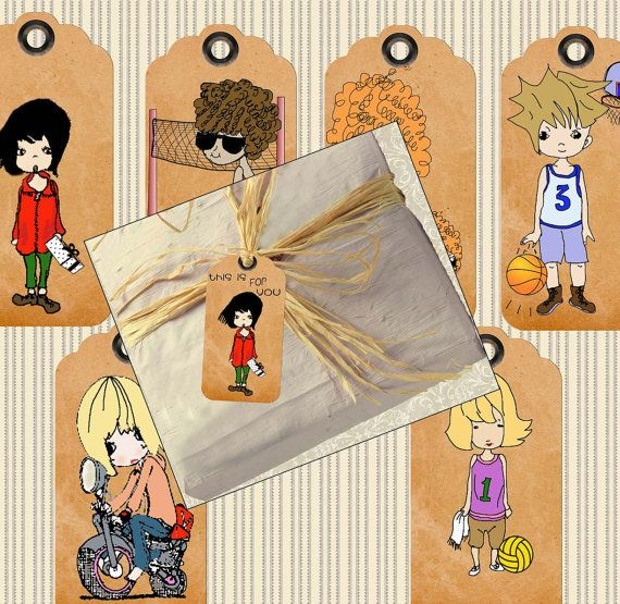 """It'll soon be """"that Time of Year"""" be prepared with these really cute tags.#Gifttags so cute images 410  Collage for crafts by ArtToArt"""