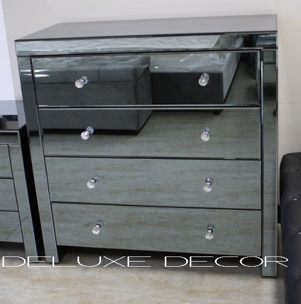 Smoked Italian Collection Mirror 3 Drawer Bedside Cabinet: Ashton MF Collection Images On Pinterest