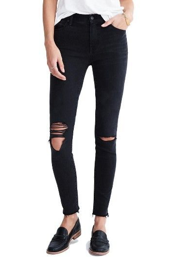 Madewell 9-Inch High-Rise Skinny Jeans (Black Sea) | Nordstrom - Nordstrom