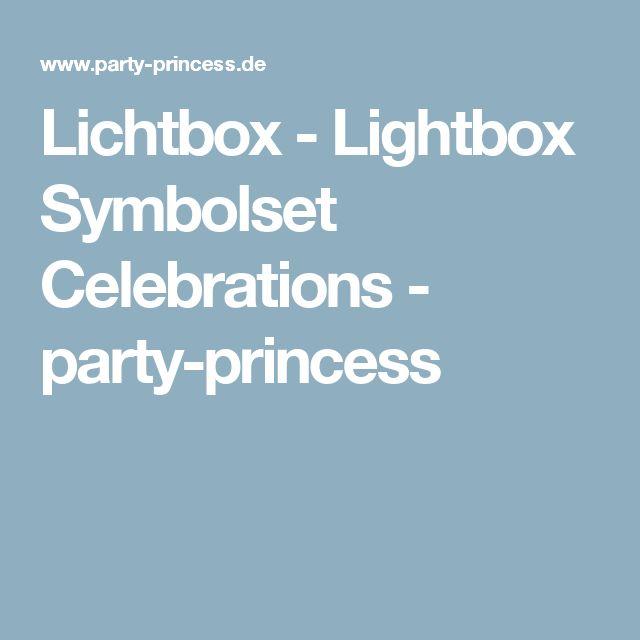 Lichtbox - Lightbox Symbolset Celebrations - party-princess